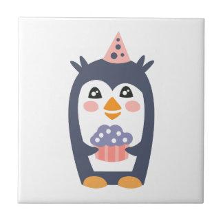 Carreau Le pingouin avec la partie attribue génial stylisé