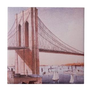 Carreau Le pont de Brooklyn