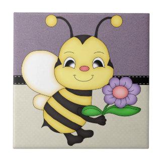 Carreau Le rétro jaune gaffent l'abeille