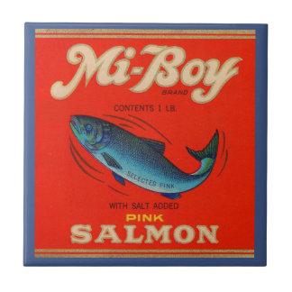 Carreau le saumon de rose de MI-Garçon des années 1930