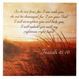 Carreau Le vers de bible de 41:10 d'Isaïe ne craignent pas