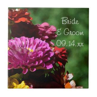 Carreau Le Zinnia de jardin fleurit le mariage