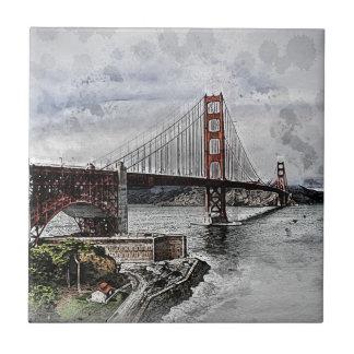 Carreau L'eau de golden gate bridge de Golden Gate de San