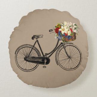 Carreau léger de fleur de bicyclette   de taupe coussins ronds