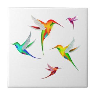 Carreau Les colibris s'assemblent mignon - observation