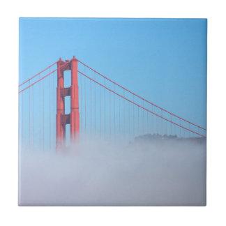 Carreau Les Etats-Unis, la Californie. Golden gate bridge