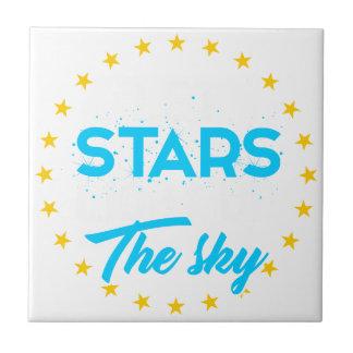 Carreau Les étoiles laissées allument le ciel