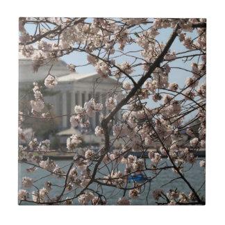 Carreau Les fleurs de cerisier en fleur dans le Washington