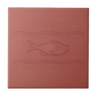 Carreau les poissons dans le mouvement simulé ont gravé à