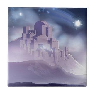 Carreau L'étoile de Noël de l'illustration de Bethlehem