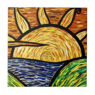 Carreau Lever de soleil abstrait vibrant