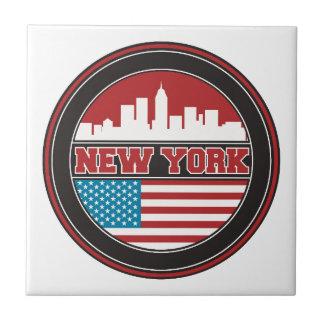 Carreau L'horizon | Etats-Unis de New York diminuent