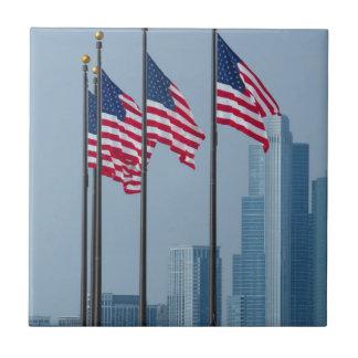 Carreau L'Illinois, Chicago. Le pilier de marine, USA