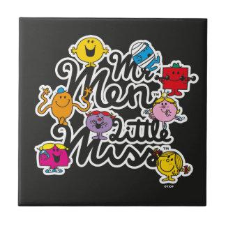 Carreau Logo de groupe de M. Men Little Mlle |