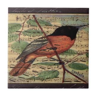 Carreau Loriot vintage sur la musique