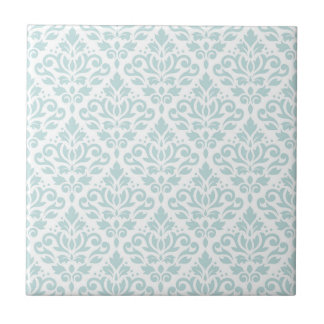 Carreau Lt Duck Egg Blue de motif de damassé de rouleau