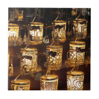 Carreau Lumières de thé de famille de Noël