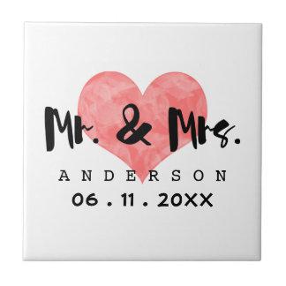 Carreau M. et Mme emboutis date de mariage de coeur