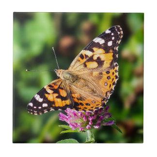 Carreau Madame peinte Butterfly Ceramic Photo Tile