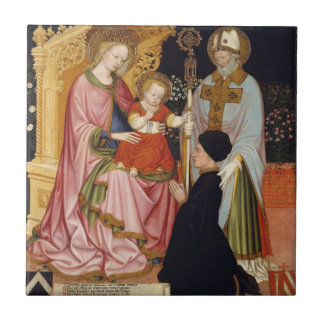 Carreau Madonna et enfant avec le donateur