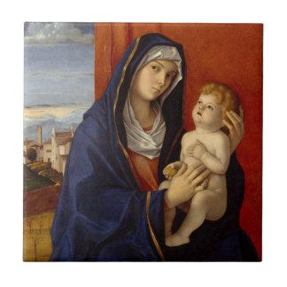 Carreau Madonna et enfant, circa 1485
