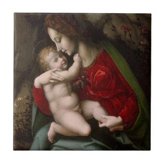 Carreau Madonna et enfant, circa 1520