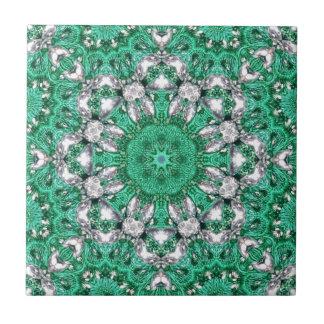 Carreau mandala de Bohème chic de vert vert de motif