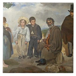 Carreau Manet   le vieux musicien, 1862