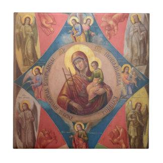 Carreau Mary, Jésus, et anges