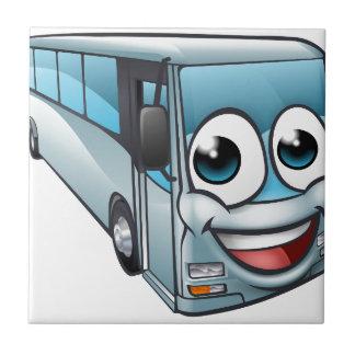 Carreau Mascotte de personnage de dessin animé d'autobus