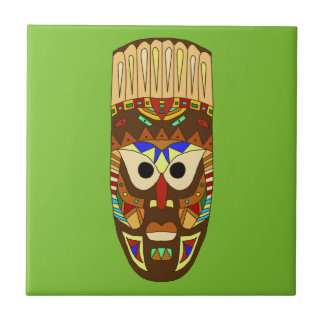 Carreau masque africain traditionnel
