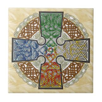 Carreau Médaillon élémentaire de croix celtique