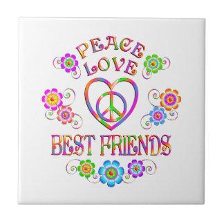 Carreau Meilleurs amis d'amour de paix