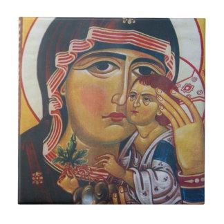Carreau Mère Mary et art de Jésus