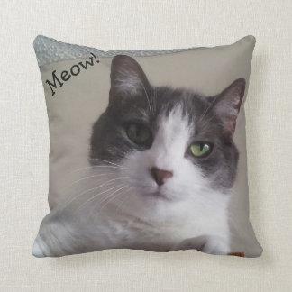 Carreau mignon d'image de chat de Meow Oreiller