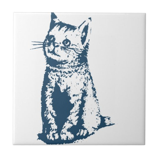 Carreau Miscellaneous - Blue Vintage: Cat