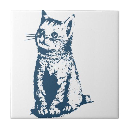 Carreau Miscellaneous - Blue Vintage: Cat