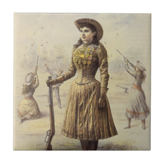 Carreau Mlle vintage Annie Oakley, cow-girl occidentale