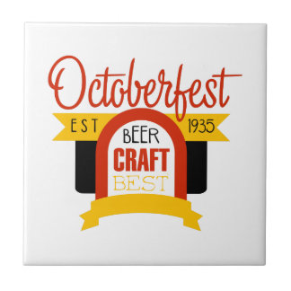 Carreau Modèle de conception de logo d'Oktoberfest