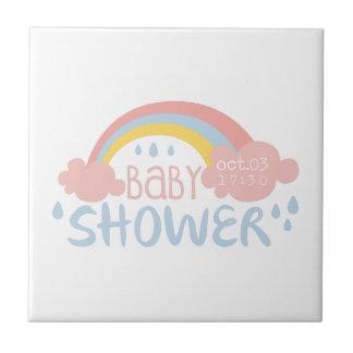 Carreau Modèle de conception d'invitation de baby shower