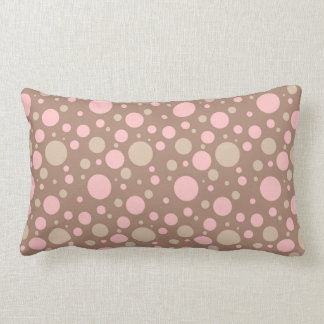 Carreau modelé mignon de point de polka coussin rectangle