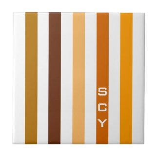 Carreau Monogramme orange bronzage de rayures verticales