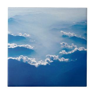 Carreau Montagnes et nuages