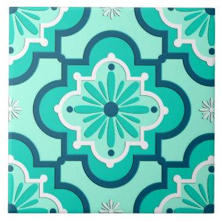 Carreau Motif, Aqua et turquoise marocains de tuile