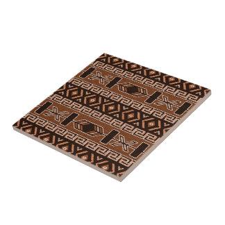 Carreau Motif aztèque de sud-ouest de Brown