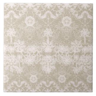 Carreau motif blanc élégant et noble de dentelle