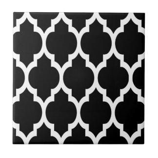 Carreau Motif blanc noir #4 de Quatrefoil de Marocain