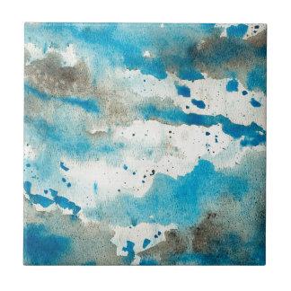 Carreau Motif bleu d'abrégé sur aquarelle