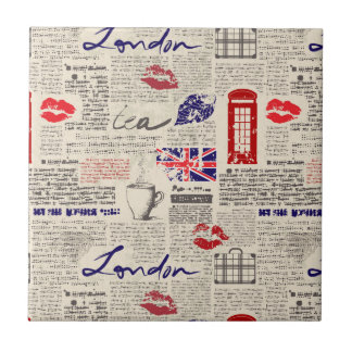 Carreau Motif de journal de Londres