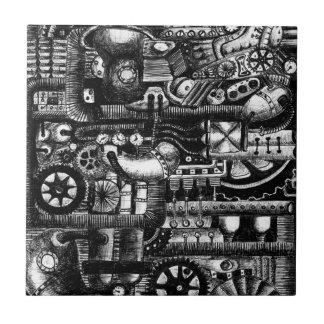 Carreau motif de mécanisme de bande dessinée de machines